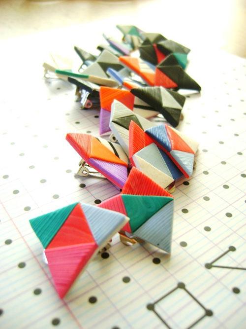 Bisutería con forma geometrica