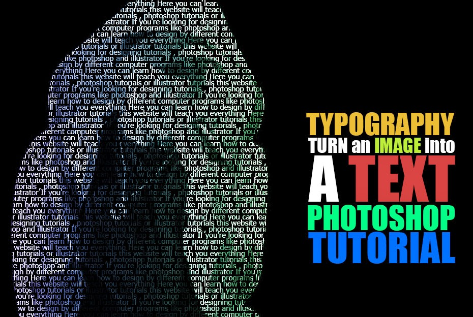 Turn An Image Into Text In Photoshop Tahir Khan Dawar