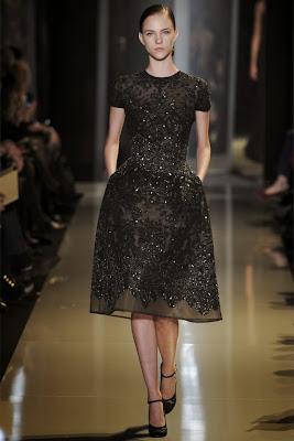 robe noire parfaite haute couture dentelle noire