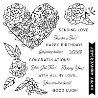 CTMH October Stamp Of The Month - All My Love