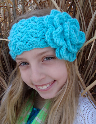 crochet headband pattern with flower