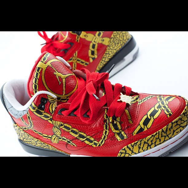 The Fat Kid Social Club  El cappy Jordan III custom 9556182c37a