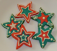 red, white and blue sugar cookies