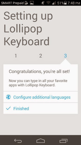 Android 5.0 Lollipop Keyboard
