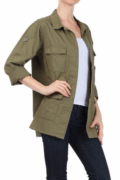 New! Military Inspired Jackets at Kick It