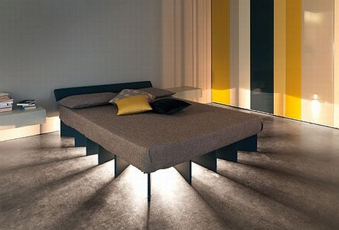 The Beam Bed with Sunshine Rays