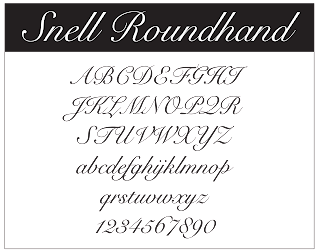 Creative pin a graphic design resource font of the week Roundhand calligraphy