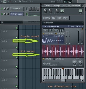membongkar loop menjadi single sound