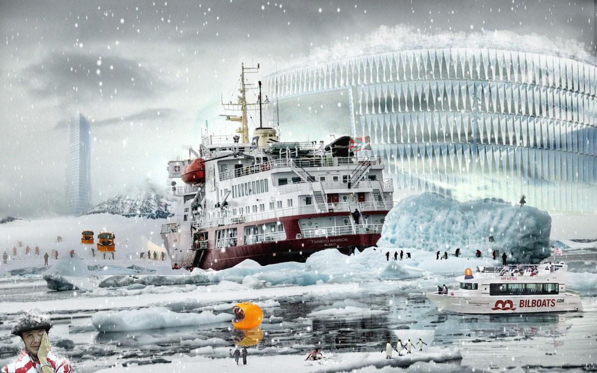 Niko Vázquez,fotomontajes,nevada,Bilbao,Ferry