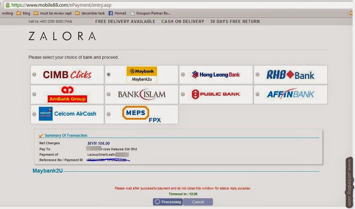 Zalora Malaysia Payment processor