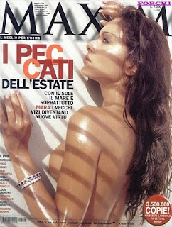 Foto di Mara Carfagna sulla copertina di Maxim