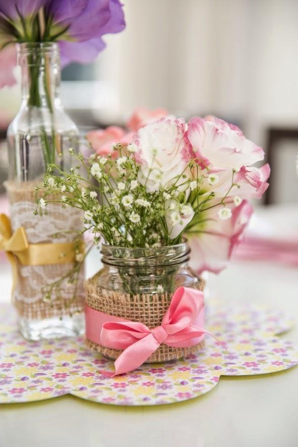 Matrimonio Tema Sport : Como fazer um arranjo de flores simples para mesa festa