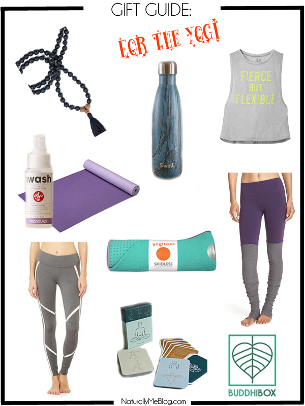 Holiday Gift Guide, gift guide, yoga, yogi, Yogi Holiday Gift Guide, yoga accessories, activewear, yoga wear, athletic wear, gym wear, S'well bottle, mala beads, yoga mat, Alo Yoga, yoga cards