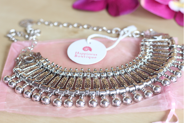 Happiness Boutique Statement Necklace Silver Free Spirit Review Jewellery Jewelry