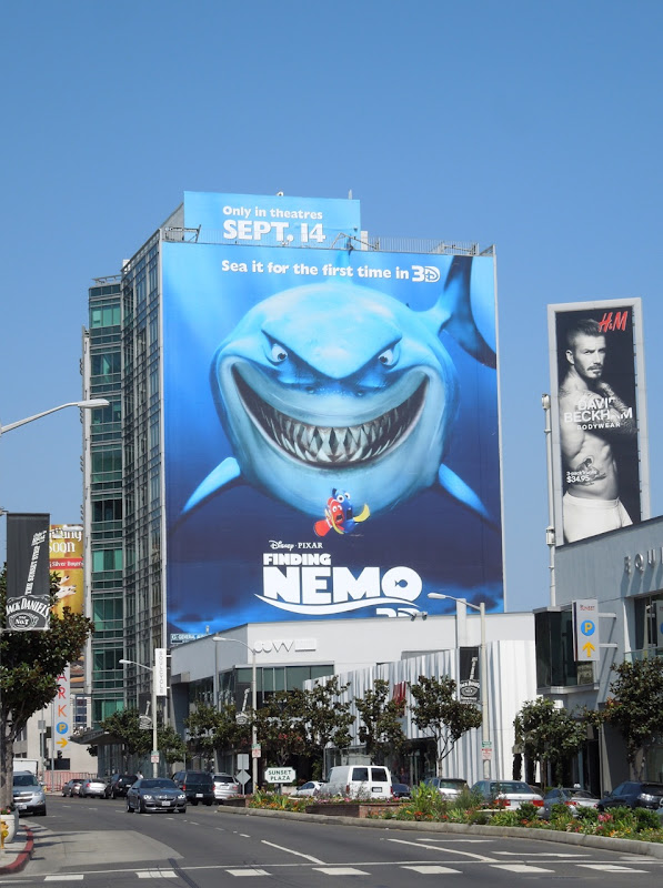 Giant Finding Nemo 3D movie billboard