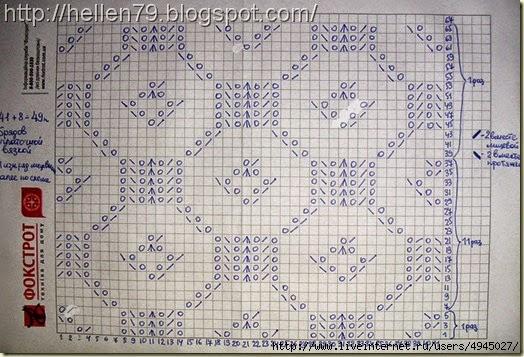Patrón de Estola tejida con dos agujas en fino punto