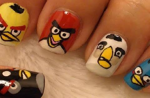 Angry Birds Nail Art
