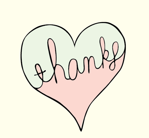 Heart of thanks-sometimes a simple design is just perfect for the day ...