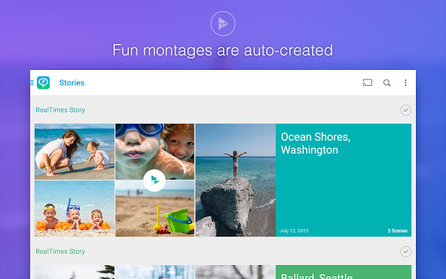 تطبيق RealTimes لإنشاء مقاطع من الصور والفيديو لهواتف أندرويد