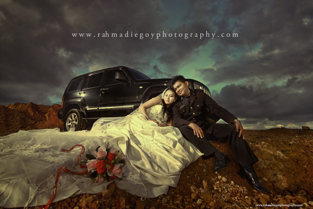 foto prewedding konsep tema polisi 7