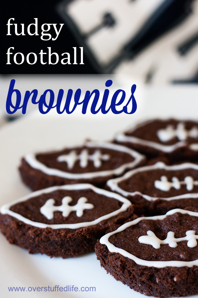 Make these delicious gluten and dairy free fudgy brownies for your next football game party! #overstuffedlife