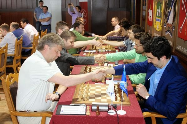 Shirov défait Kramnik dans la 1e ronde des Championnats de Russie par équipes - Photo © Le site officiel
