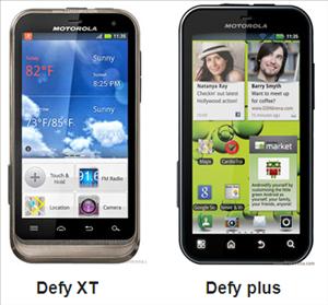 Motorola defy plus vs Motorola defy XT