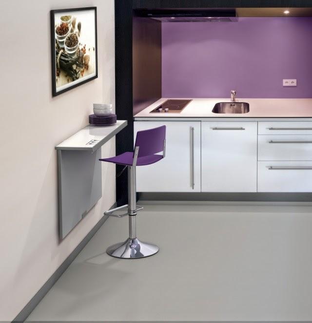 Marzua mesas para cocinas peque as - Muebles plegables para viviendas pequenas ...