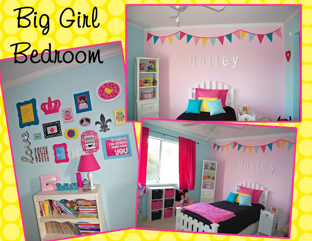 Pink Big Girl Bedroom