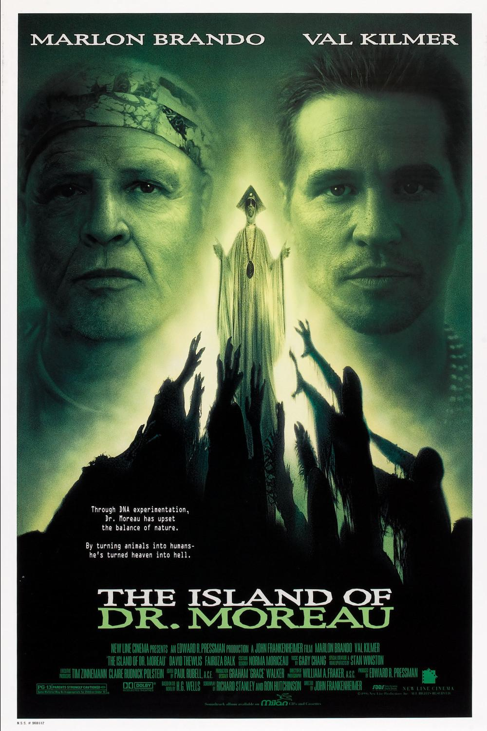 the island of doctor moreau The novel the island of doctor moreau has been adapted to the screen three times:note excluding 1959's terror is a man and 2004's direct-to-video dr.