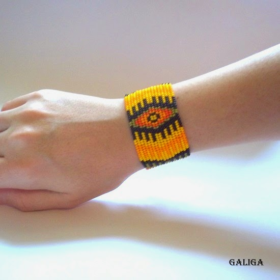 ethnic style beaded jewelry-colorful seed bead bracelet-native african cuff