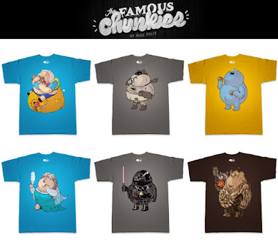 """The Famous Chunkies"" Pop Culture T-Shirt Series by Alex Solis x Threadless"
