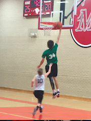 HAPPY 16th NATHAN--ALMOST A SLAM DUNK!