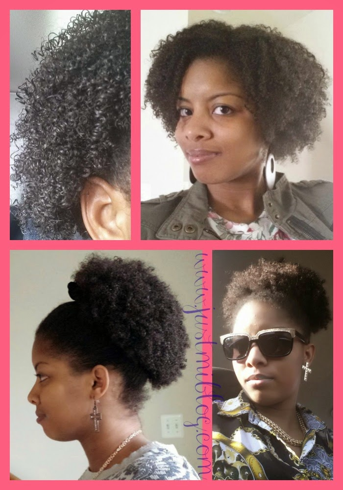 My wash and go natural hairstyles.