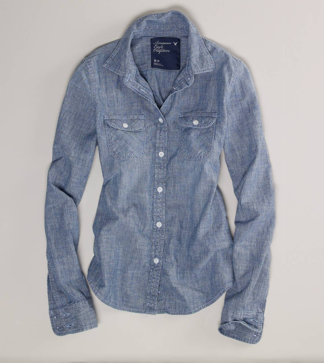 make mine chambray classic button
