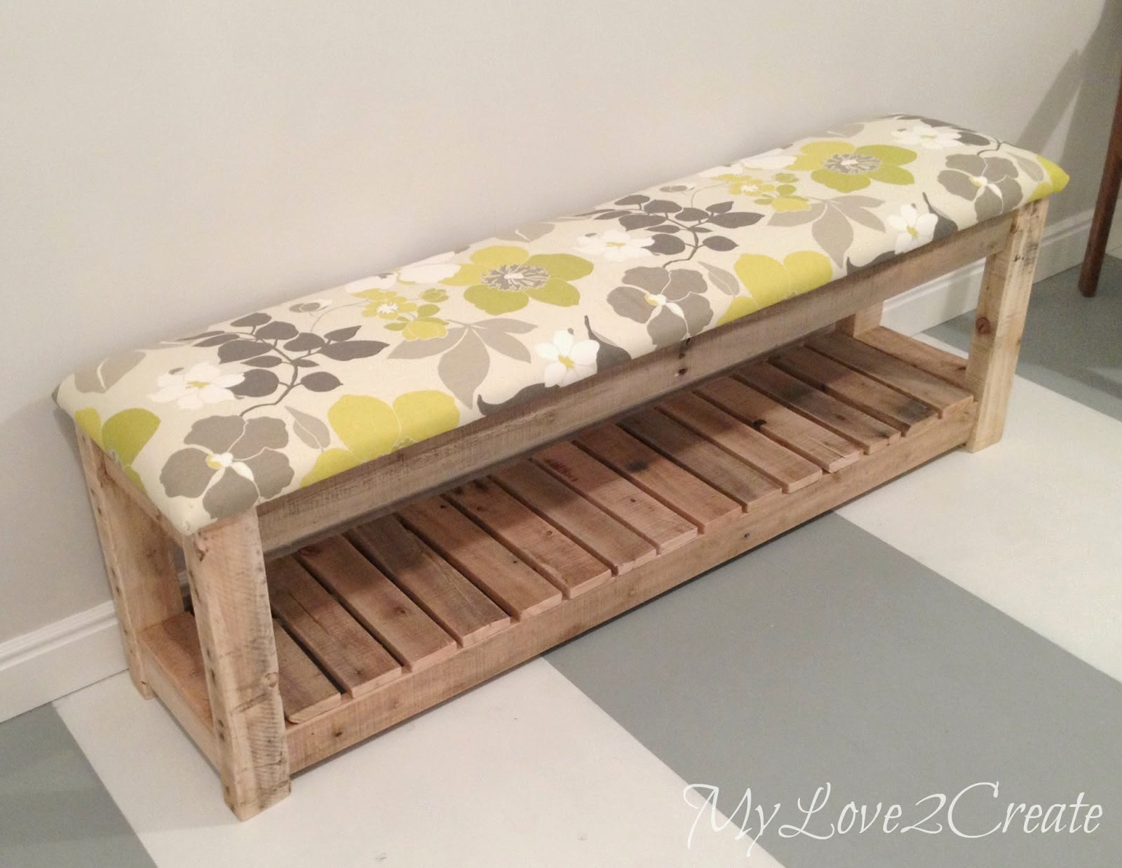 DIY Upholstered bench, shared by My Love 2 Create