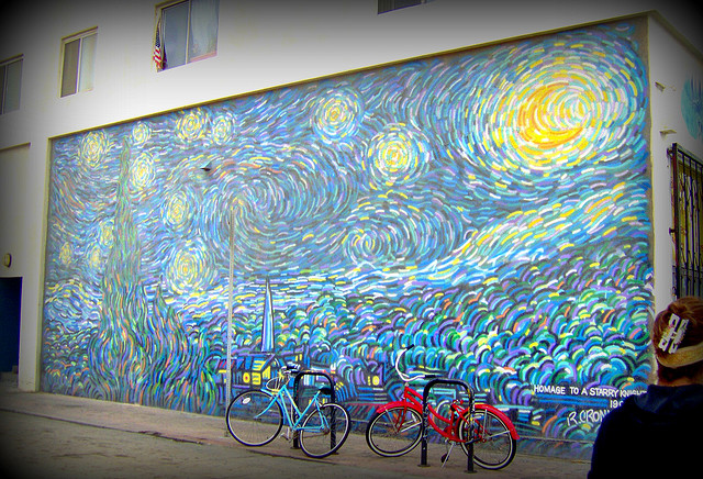Hella heaven rip cronk 39 s mural inspired by van gogh for 9 11 mural van