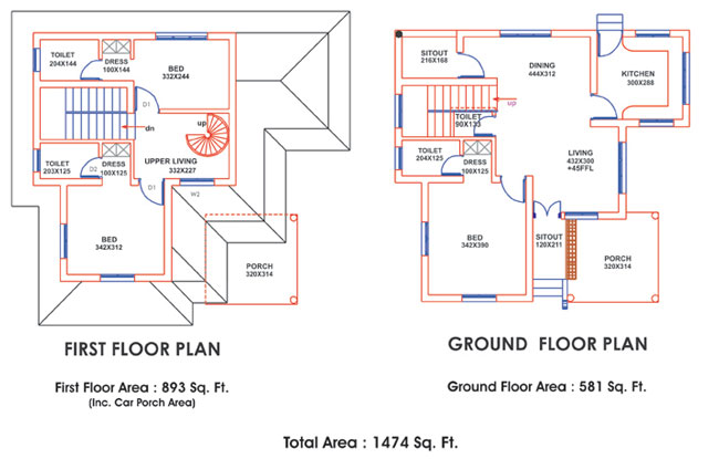 Ente veedu plans for Veedu elevation