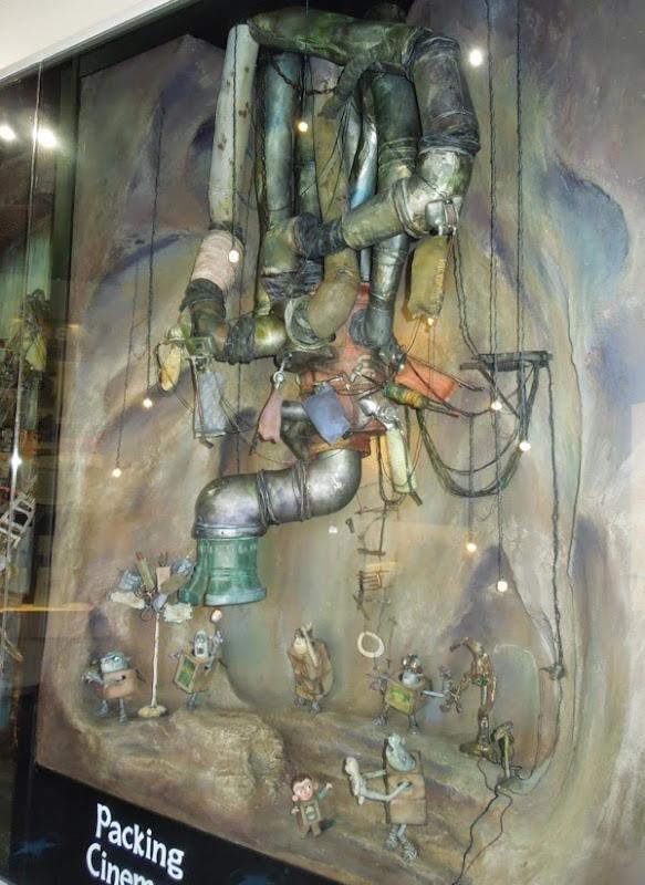The Boxtrolls Underground cave set exhibit