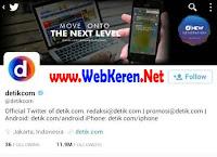 @DetikCom, Akun Twitter berita online terpopuler dengan followers terbanyak