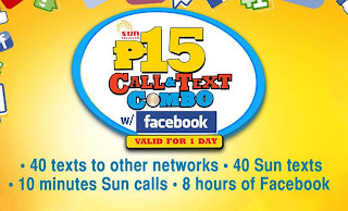 Sun Cellular Call and Text Combo w/ Facebook