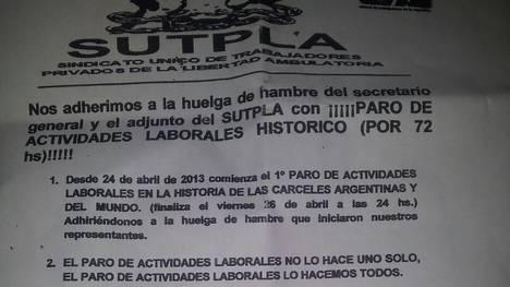 Creacion del sindicato de presos SUTPLA