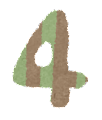数字 4 イラスト文字