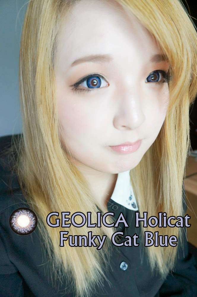 Allow More Oxygen to your Eyes: wear Geolica Holicat Funky Blue