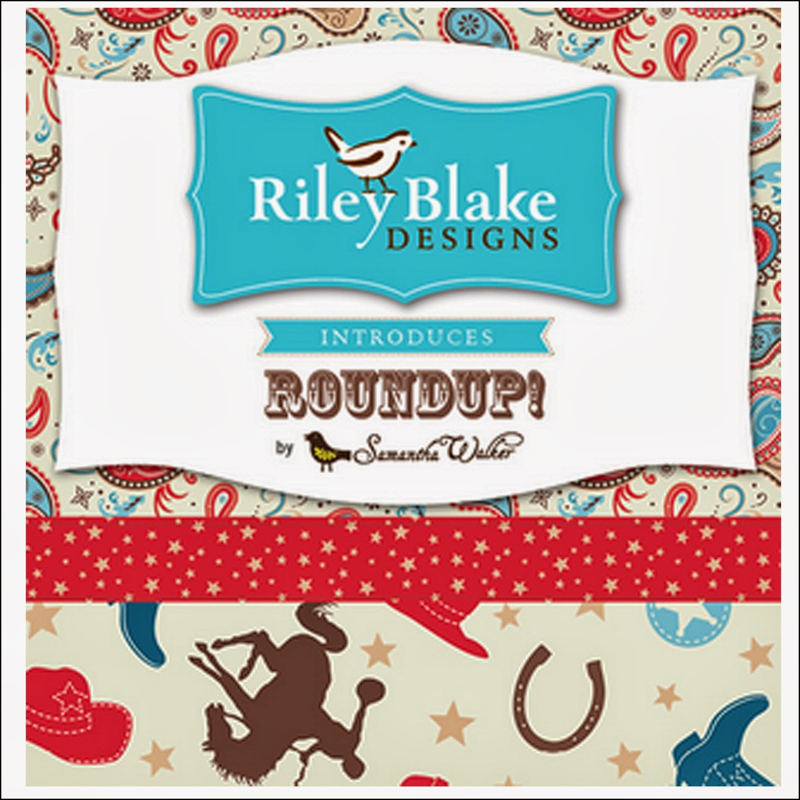 Riley Blake Designs ROUND UP ROUNDUP Quilt Fabric by Samantha Walker