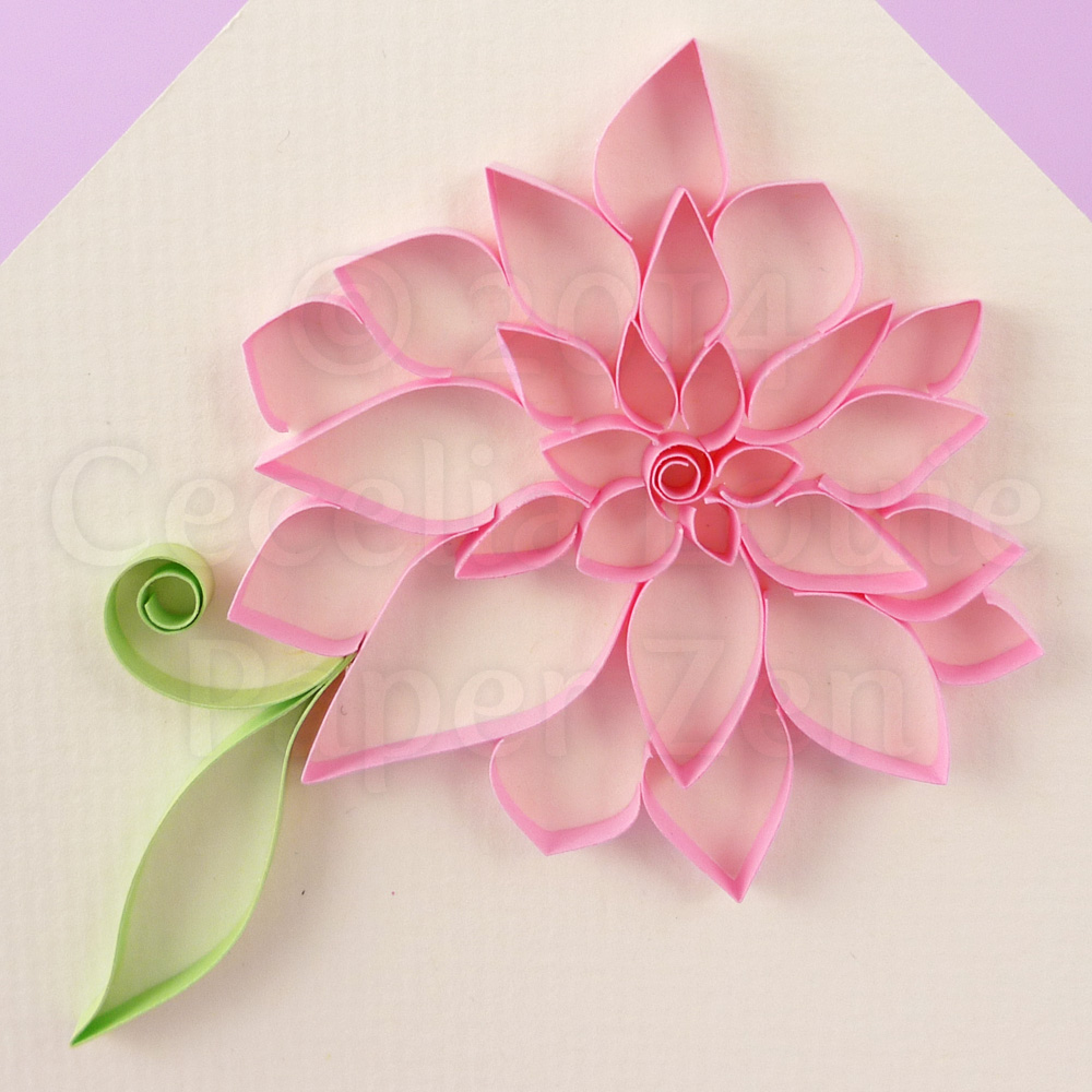 Paper Zen Quilling Tutorial Outlined Flowers