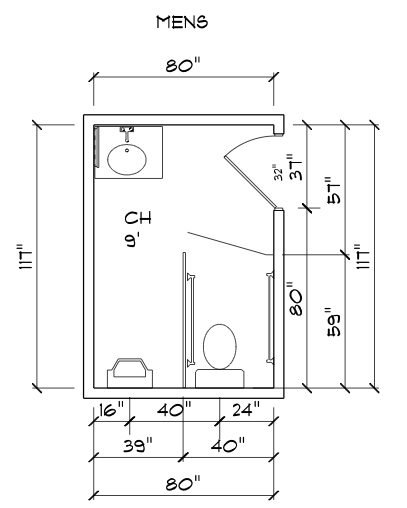 Ada porta potty dimensions crafts for Bathroom dimensions