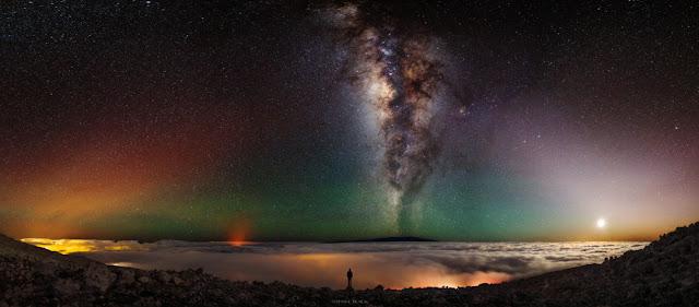 Bầu trời đêm ở Mauna Kea. Tác giả : Shane Black Photography. Chú thích thiên thể : Judy Schmidt.