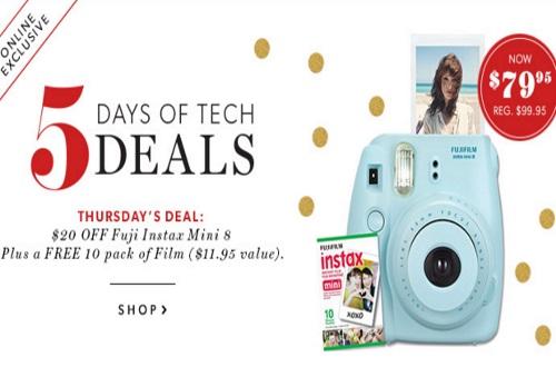 Chapters Indigo $20 Off Fuji Instax Mini 8 Camera + Free Pack of Film