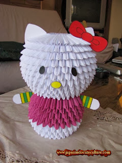 Yuk Bikin Origami 3D Hello Kitty Yang Cute Bisa Jadi Souvenir Lho!
